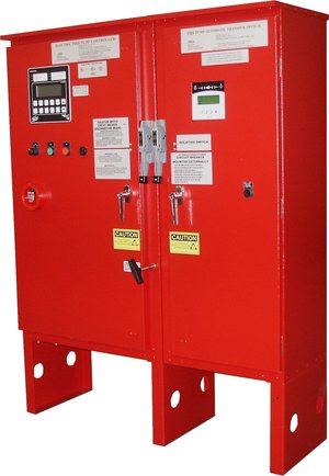 Geothermal and fire protection products fire pump for Electric motor test panel